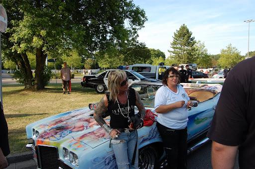 Bert und sein Pontiac Bert Wollersheim beim US Car Treffen in Grefrath am