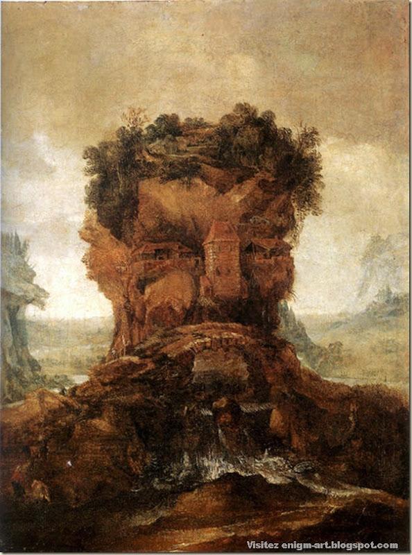 Joos de Momper, paysage anthropomorphe, 1600-1635