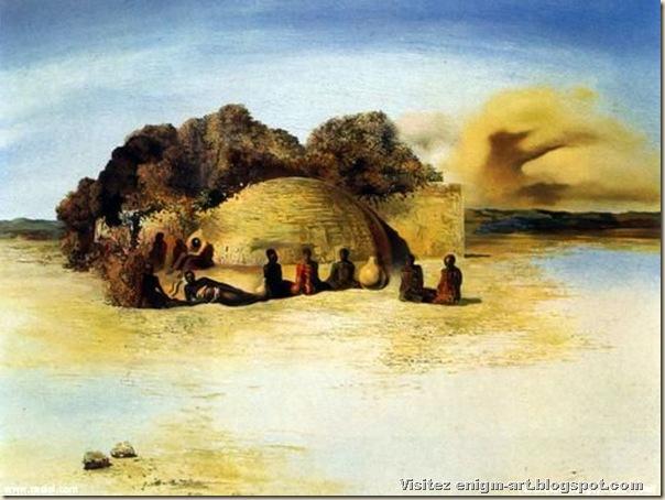 Salvador Dali, tête paranoïaque,1935, collection particulière