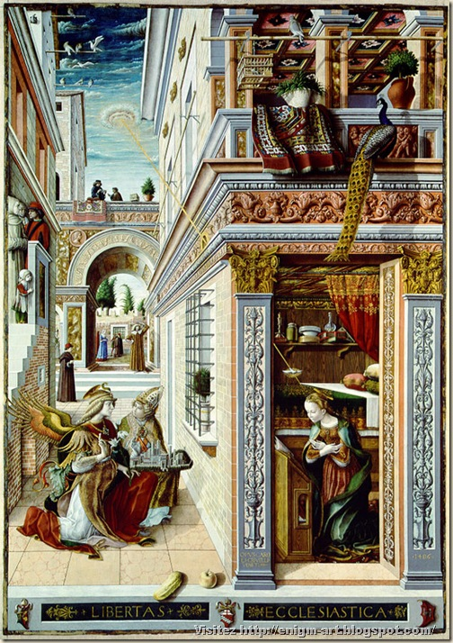 Carlo  Crivelli, Annonciation, 1486 Londres