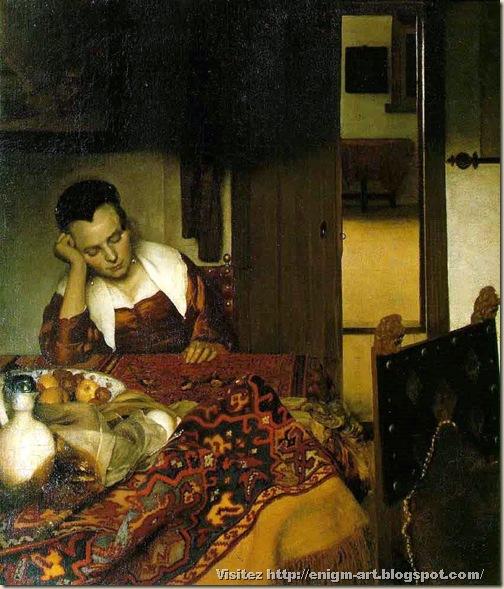 Vermeer, Jeune femme assoupie, 1655 1660