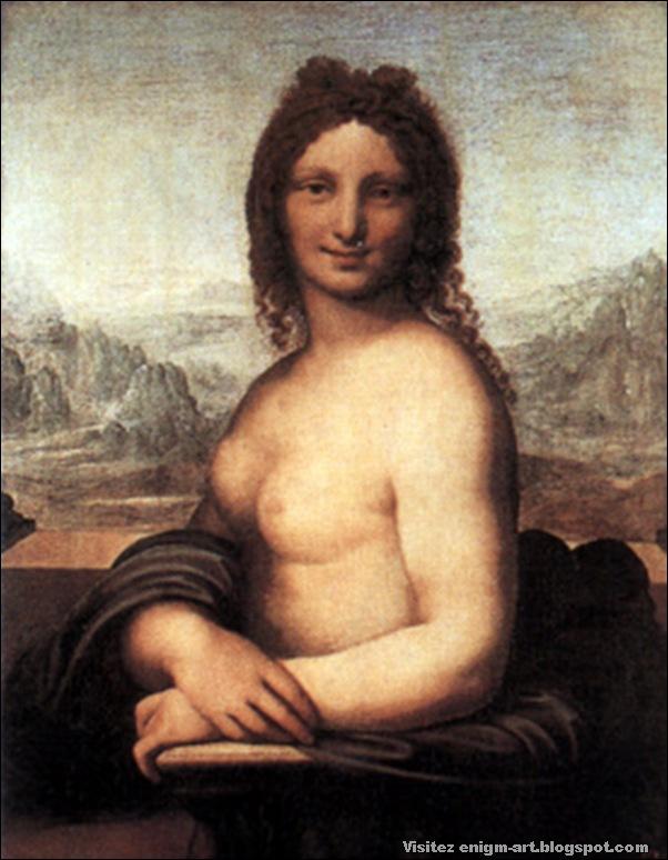 Disciple de Leonard,Joconde nue, XVIème siècle, Musée de l'Ermitage, Saint-Petersburg