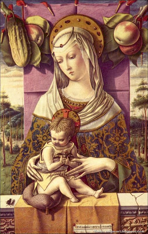 Carlo Crivelli, vierge à l'enfant, 1473