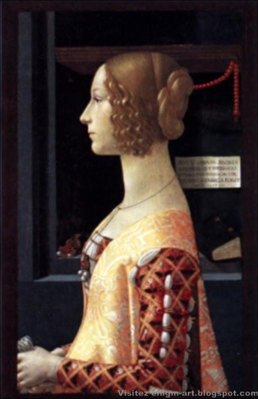 Domenico Ghirlandaio, portrait de Giovanna Tornabuoni, 1490