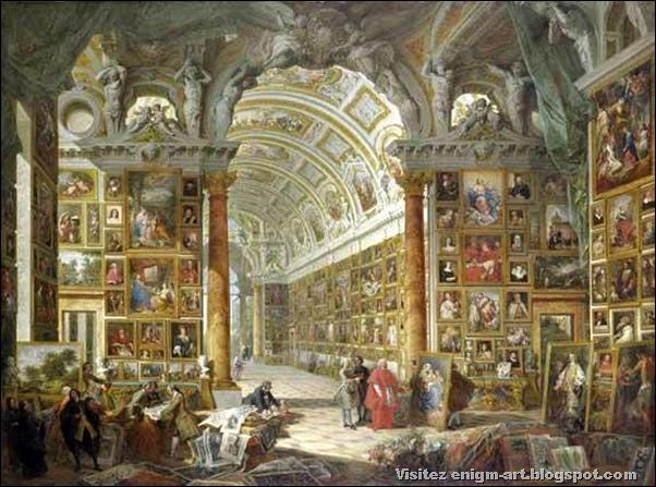Giovanni Paolo Pannini,Galerie de la Rome antique