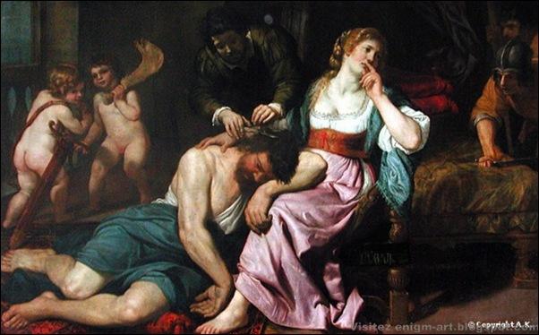 Domenico Fiasella , Samson et Dalila