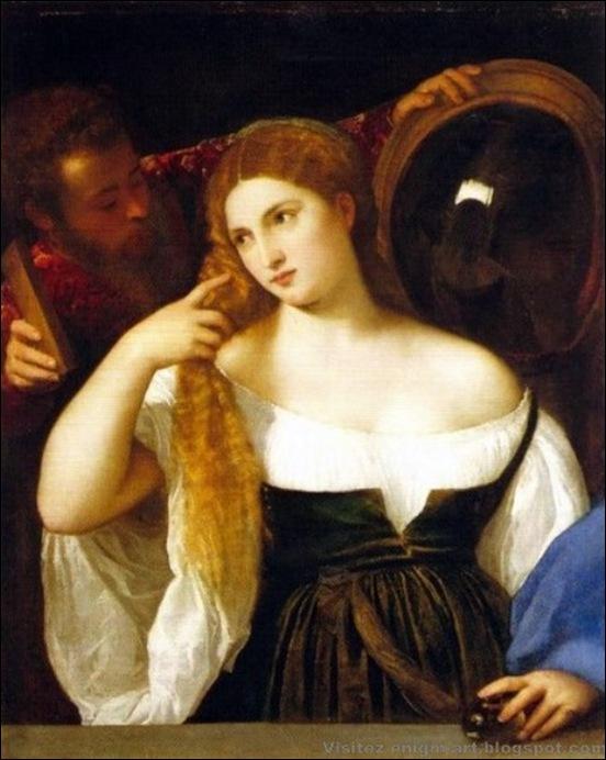 Titien,  La jeune fille au miroir