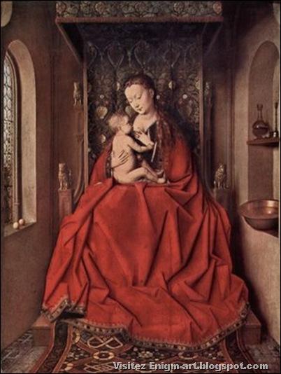 Jan Van Eyck, Vierge allaitant l' enfant, 1436