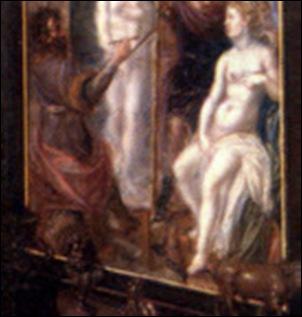 Détail, Anonyme Flamand, Allégorie de l'art et de la science, 1622-1633