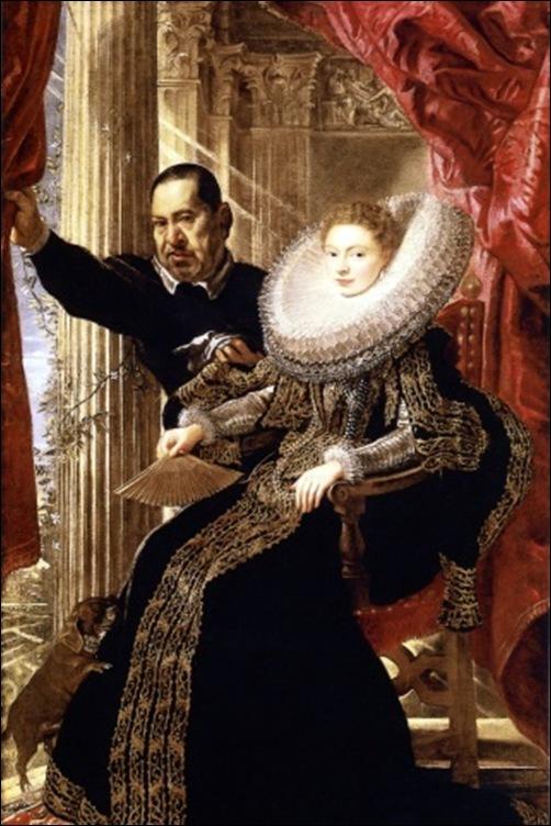 Peter Paul Rubens, Portrait d'une dame avec son nain, 1606