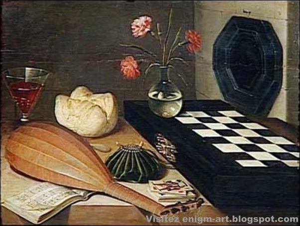 Lubin Baugin, Nature morte à l'échiquier, 1ère moitié du XVIIe siècle