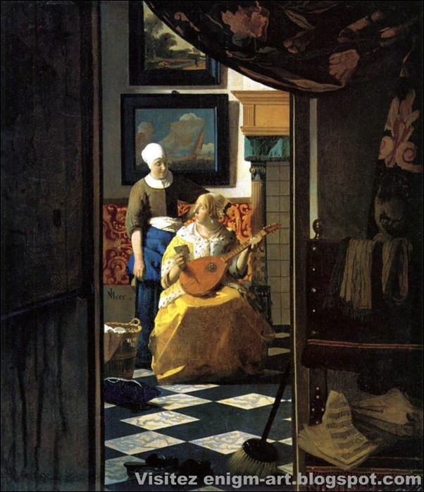 Vermeer, La lettre d'amour, 1667