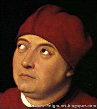 Détail, Raphaël, Portrait de Tommaso Inghirami,1514-1 [1600x1200]