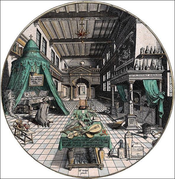 589px-Amphitheatrum_sapientiae_aeternae_-_Alchemist's_Laboratory