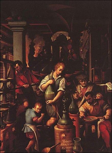 Giovanni Stradano, Le laboratoire de l'alchimiste