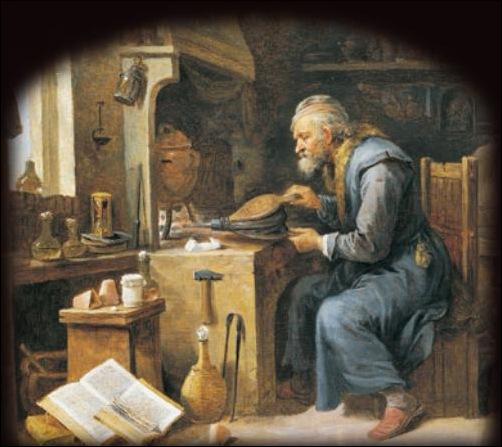 David Teniers ,L'alchimiste