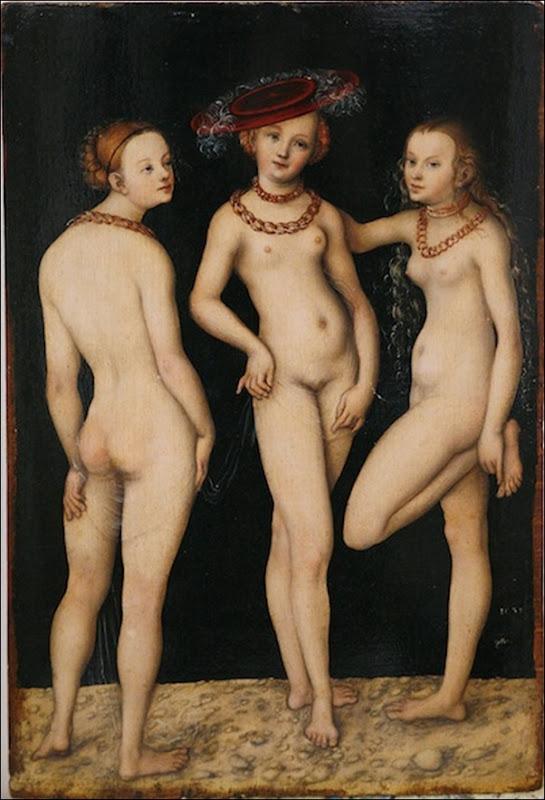Lucas Cranach, Les trois Grâces 1531