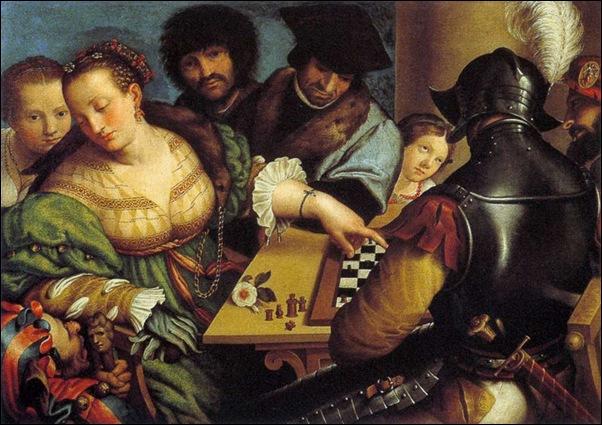 Giulio Campi, Partie d'échecs 1550