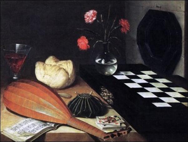 Lubin Baugin, Nature morte avec jeu d'Echec 1630