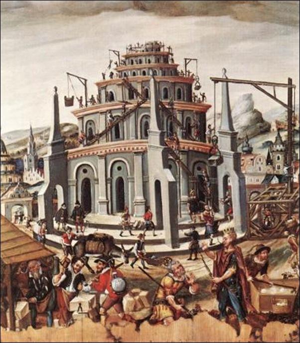 Maître Allemand inconnu, Tour de Babel