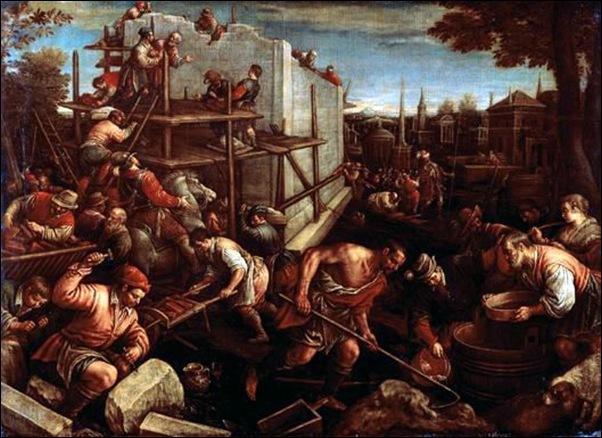 Leandro Bassano, La construction de la Tour de Babel