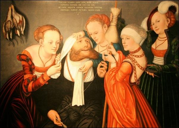 Cranach, Hercule chez Omphale 1537