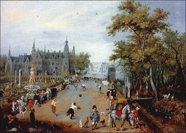 Adrian Van de Venne, Le jeu de paume 1614