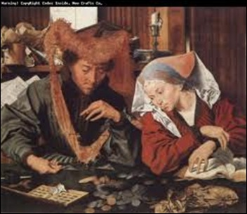 Marinus Van Reymerswaele, Le changeur et sa femme