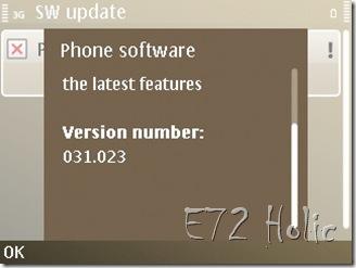 Firmware Terbaru Nokia E72 Indonesia v.031.023