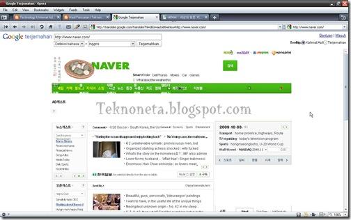 Terjemahan Situs Hot News Korea