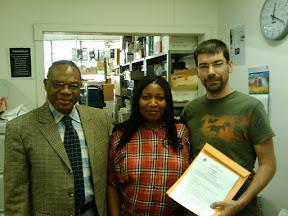 Le révérend Tambwe Musangelu pour Dikud Dilenga en RDC, Julienne Douki pour Micro-Recyc-Cooperation, et Dom Derrien pour Diku Dilenga au Canada