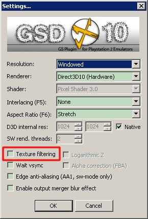 GSDX 取消勾選 Texture_filtering