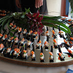 One of our numerous appetizer food stations