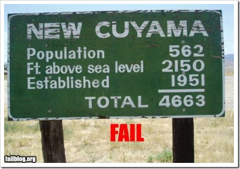 Fail Population Count.