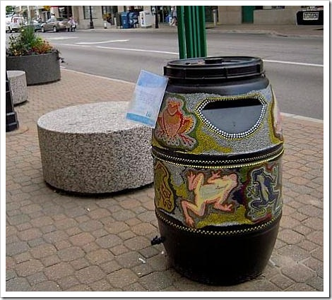 Funny water barrel.