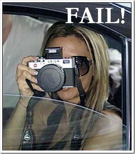 Blonde Photographer Fail.