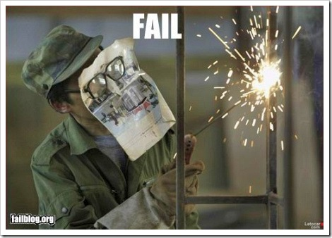 Safety glasses fail.