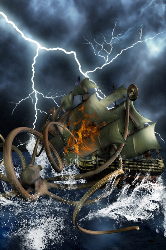 kraken giant octopus squid sea monster clash of titans