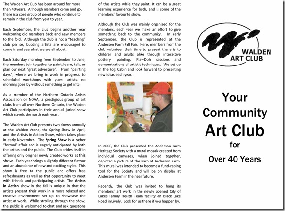 The Walden Art Club has been around for more than 40 years