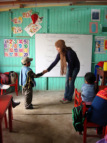 "Vasilisa Teaching ""Thank You"" at USDA School (Alta Trujillo, Peru)"