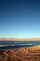Sunset / Moonrise at the salt lake (San Pedro de Atacama, Chile)