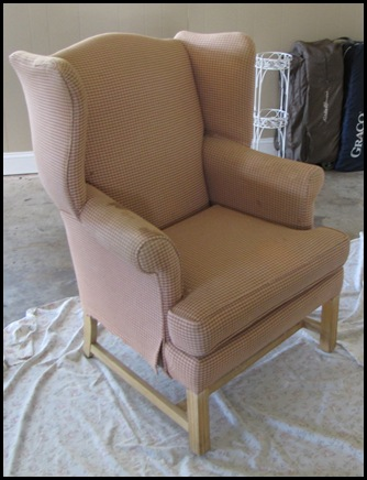 Since Drop Cloths Are So Inexpensive, And I Like Their Texture, I Decided  To Use Them To Slipcover The Chair.