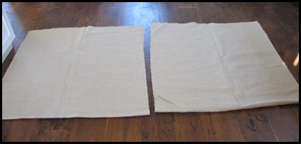 how to make a round burlap tablecloth