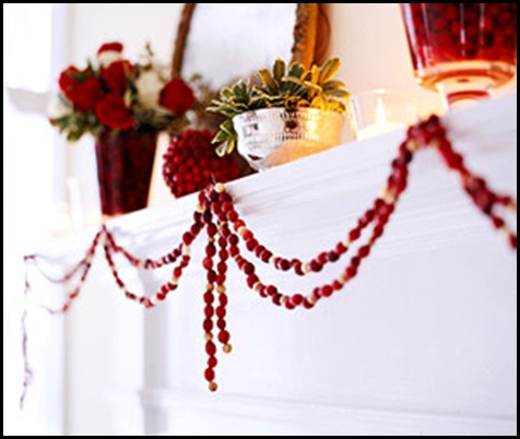 Crazy about cranberries beneath my heart for Artificial cranberries decoration
