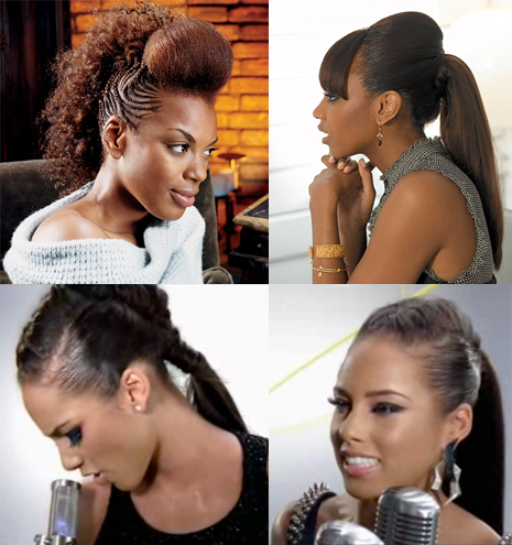 Alicia Keys Bond hairstyle