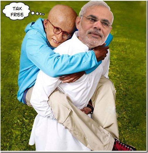 Paa,TaxFree, Gujarat, Amitabh Bachchan, Narendra Modi