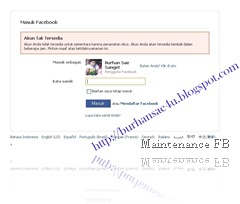 facebook Maintenance