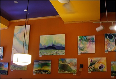 009 Display of acrylic paintings by john russell redmond at the  Wild Oat, Ottawa, October 2008 b