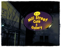Mill St set up Nigt Gallery Sign DSCN9575