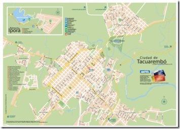 Mapa de Tacuarembó